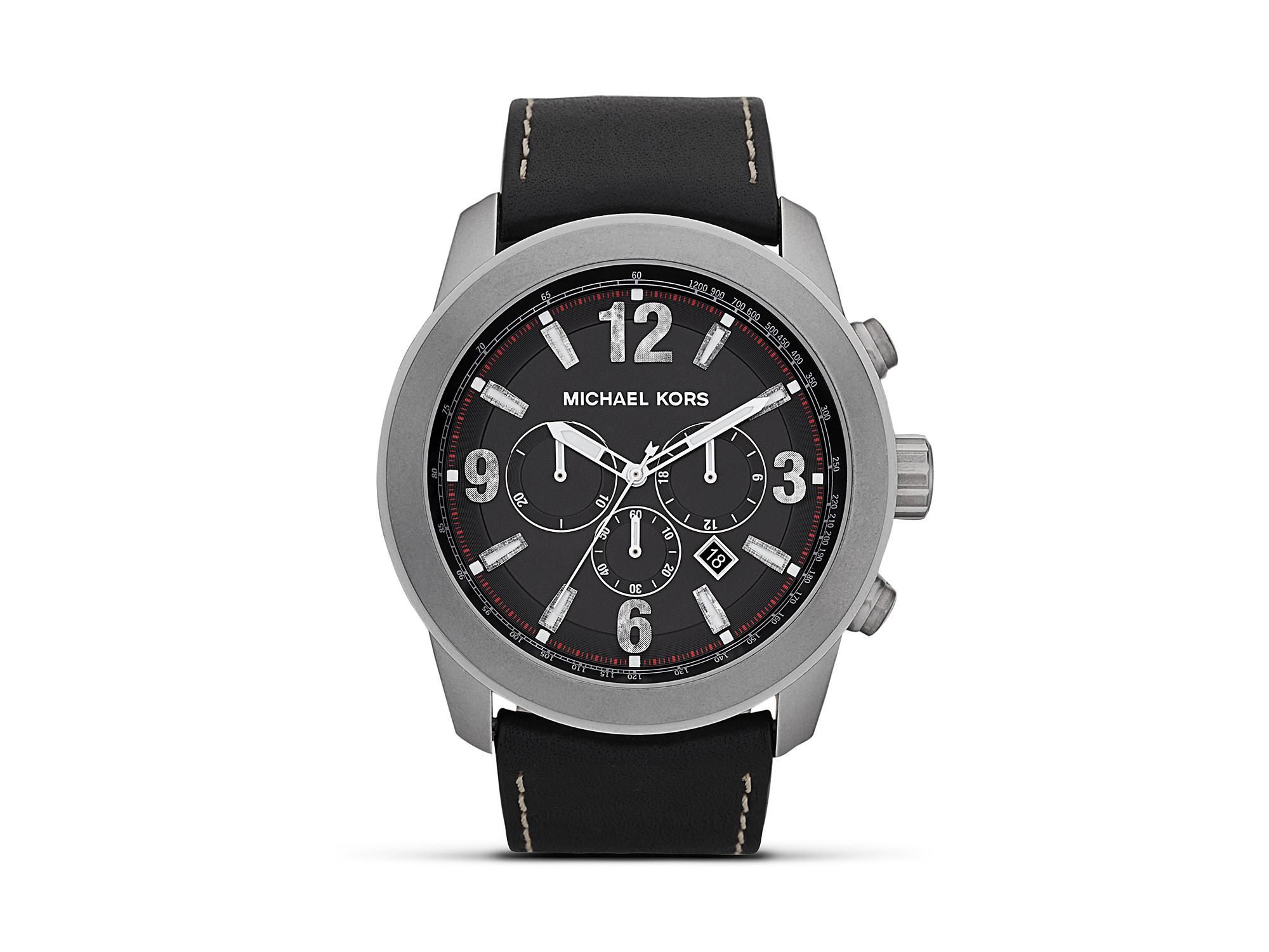 7c2965eca8ef Lyst - Michael Kors Michael Mens Matte Silver Runway Watch 51mm in ...