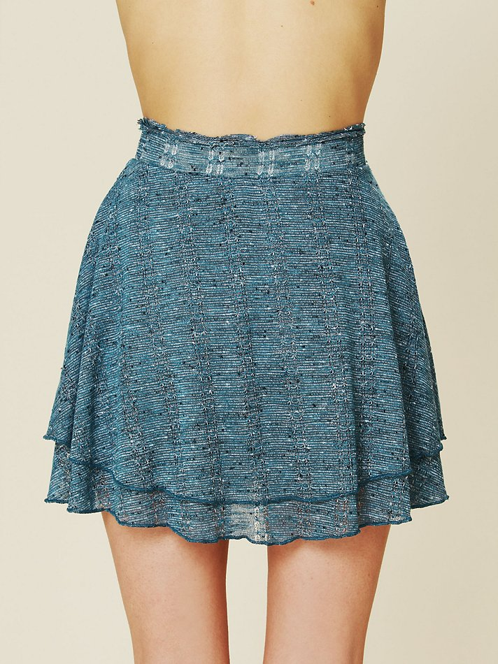 Lyst Free People Ring Of Fire Skirt In Blue