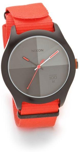 Nixon The Quad Watch in Orange