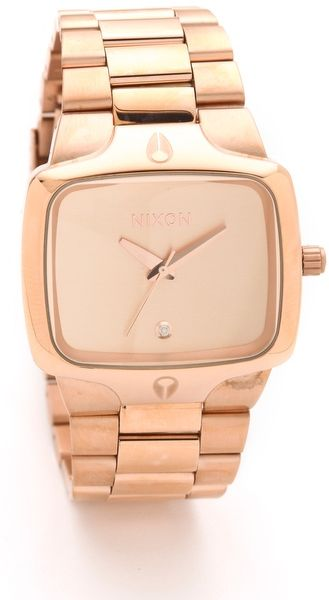 Nixon The Player Watch in Gold (rose) - Lyst