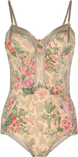 Zimmermann Devoted Floralprint Swimsuit in Floral - Lyst