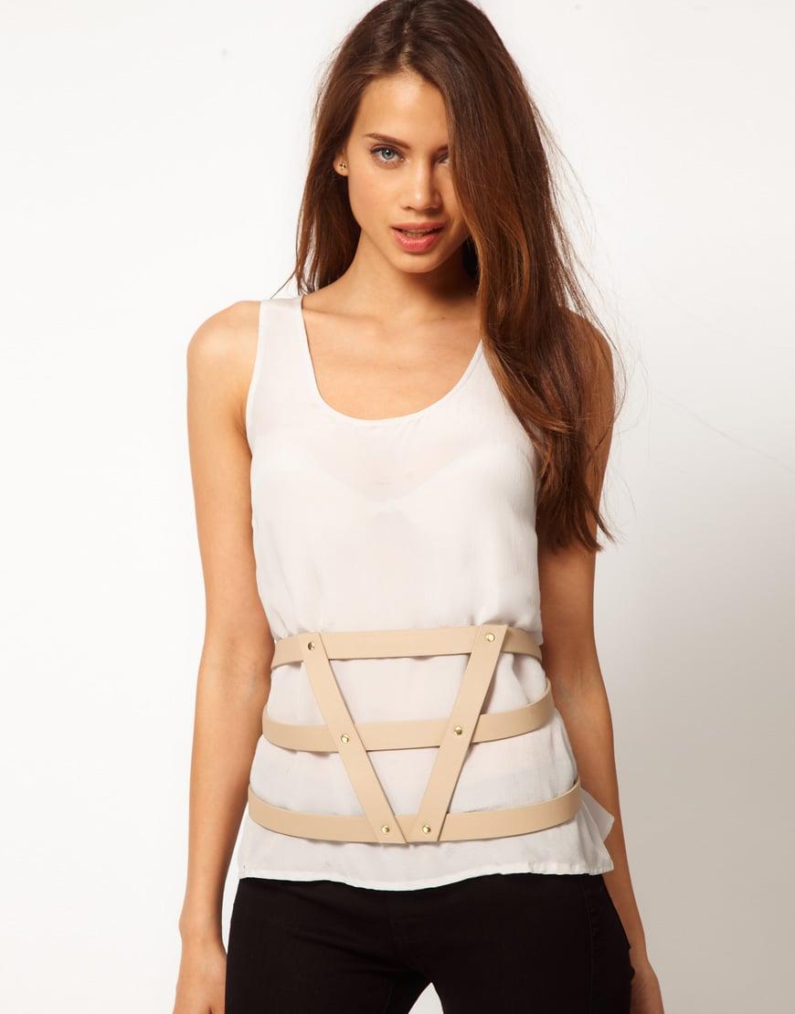 asos nude asos 3 strap harness belt product 1 3489282 904047066 asos asos 3 strap harness belt in natural lyst harness belt at eliteediting.co