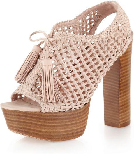 Pencey Alexus Platform Sandal Blush in Pink (blush)