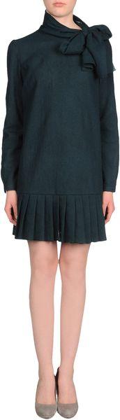 Prada Short Dress in Blue (green) - Lyst