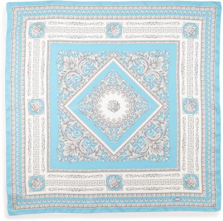 Versace Foulard Square Scarf Light Blue in Blue (null)