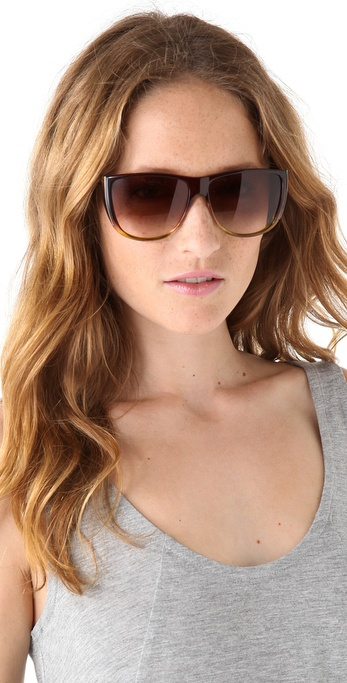 aa0f3995a9 Marc Jacobs Flat Top Ombre Sunglasses in Brown - Lyst