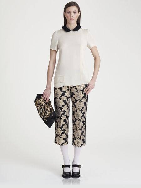 Marni Brocade Pants in Gold (coal) - Lyst