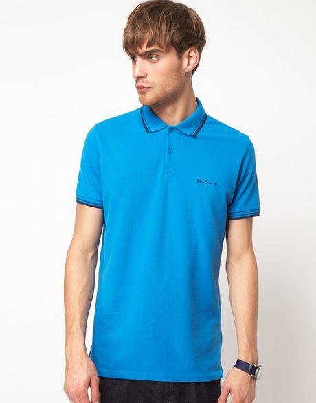 ben sherman ben sherman polo shirt in blue for men sailblue lyst. Black Bedroom Furniture Sets. Home Design Ideas