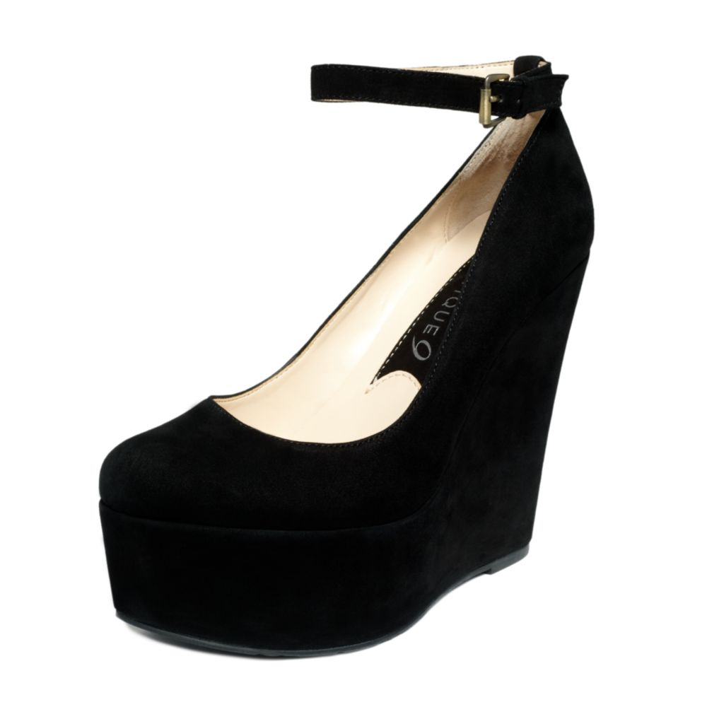 Boutique 9 Cesena Platform Wedges in Black | Lyst