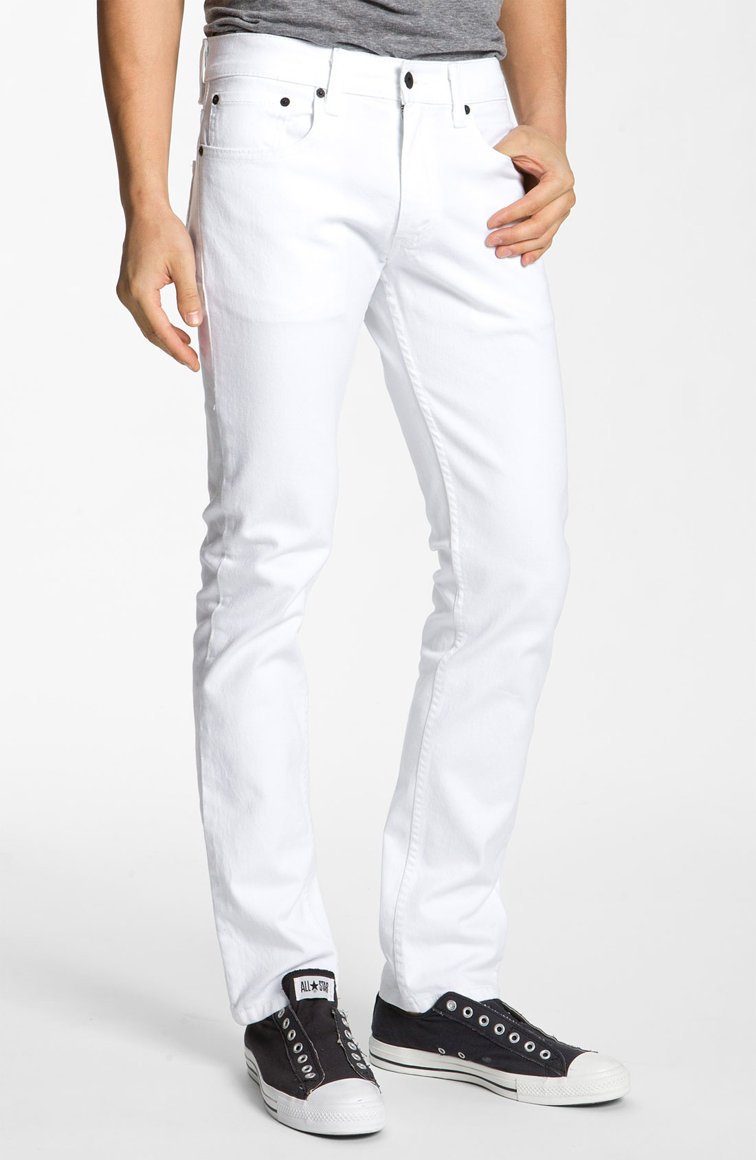 levi 39 s 511 skinny jeans in white for men lyst. Black Bedroom Furniture Sets. Home Design Ideas