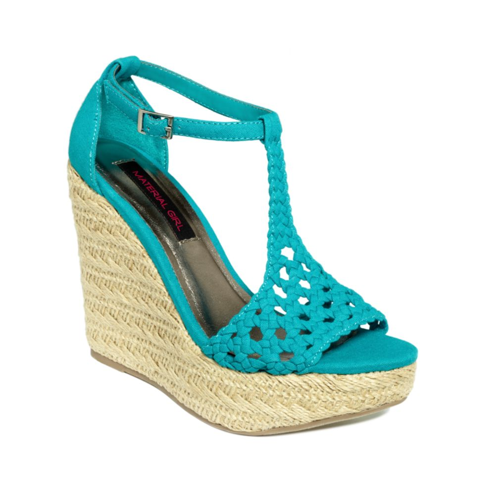 Lyst Material Girl Razzle Platform Wedge Sandals