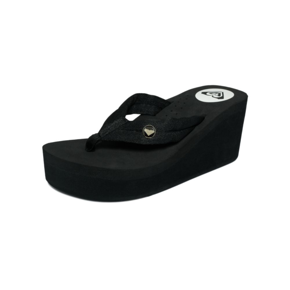 Roxy Pagoda Thong Sandals In Black  Lyst-2925