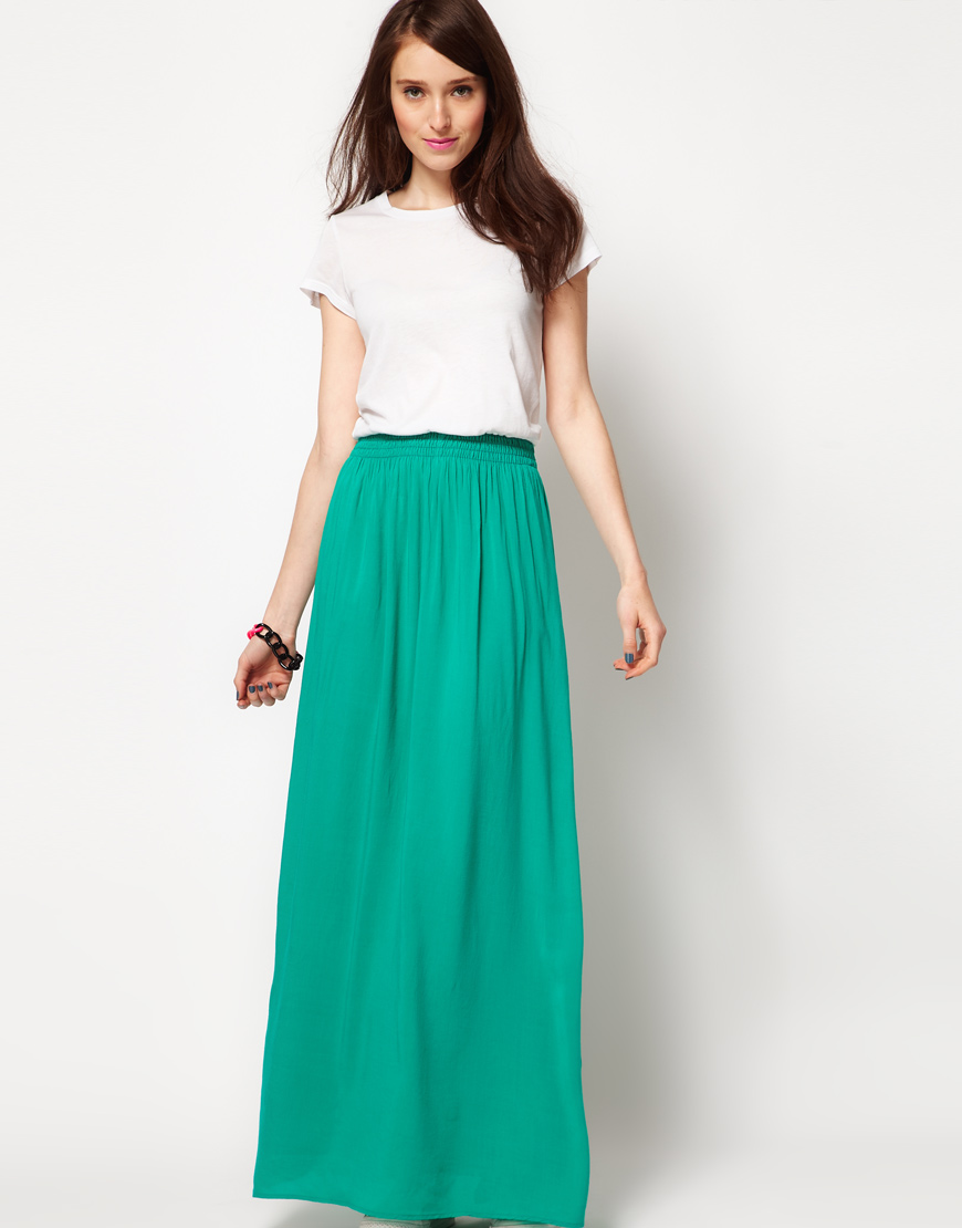 Full skirt maxi dress