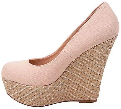steve madden pamelaaa wedge shoes in pink blush lyst