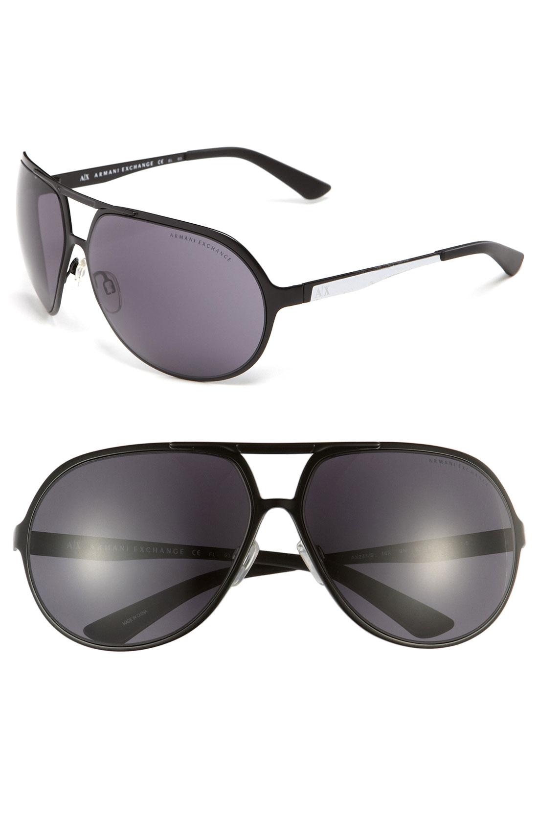 0e6ef2688a7 Ax Armani Exchange Resin Aviator Sunglasses