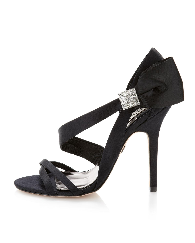 Badgley Mischka Black Bow Shoes