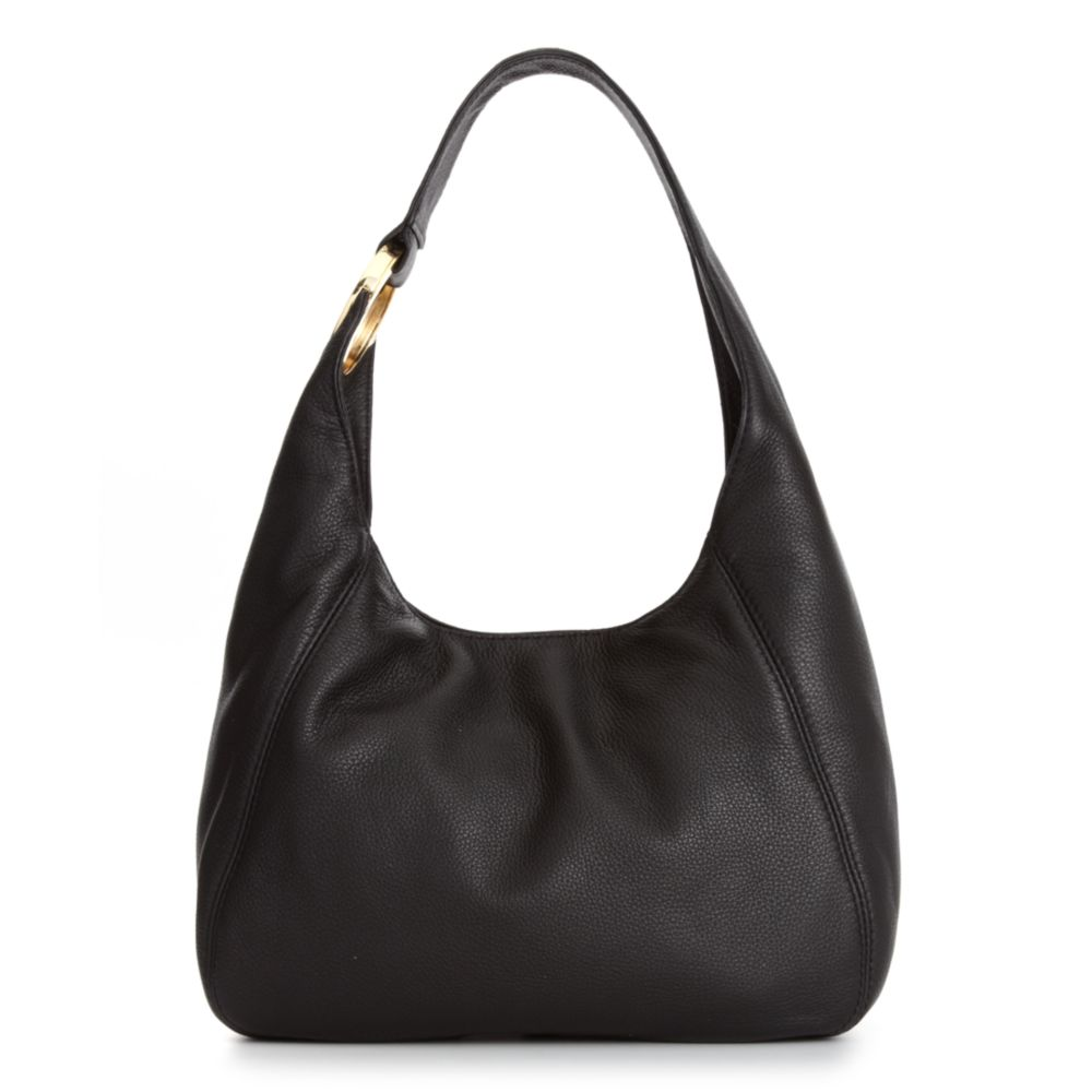 Lyst - Michael Kors Fulton Medium Shoulder Bag in Black 19624e19cf792