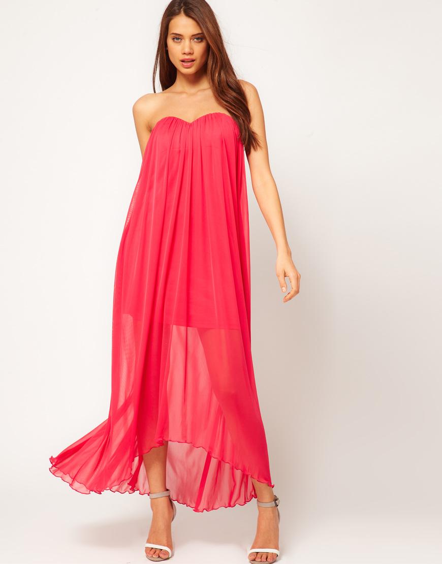 Maxi strapless dresses