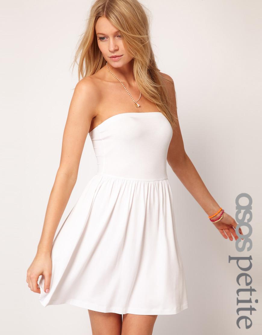 Strapless Dress White