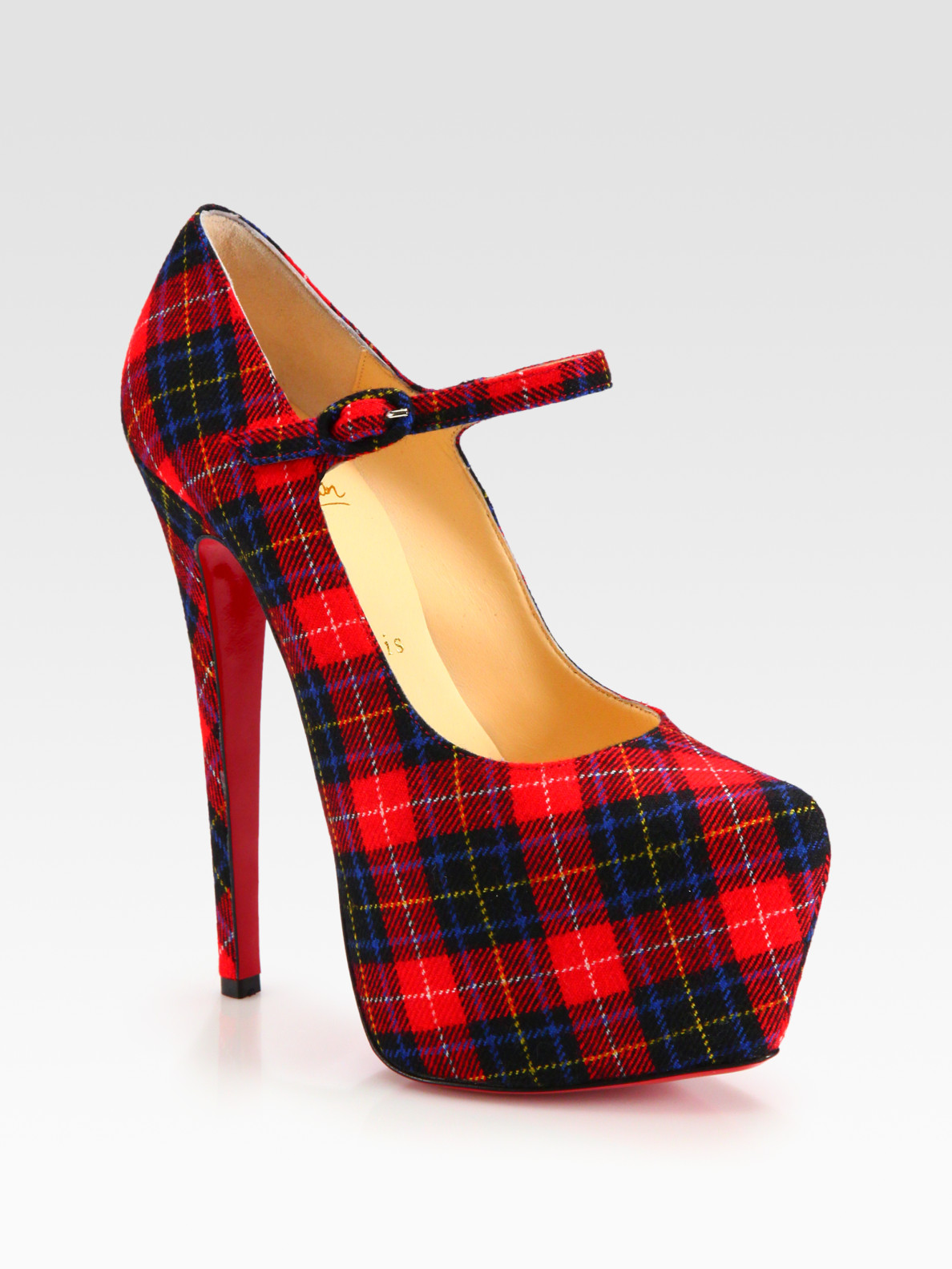 Peony Design ? christian louboutin canvas tartan mary jane ...
