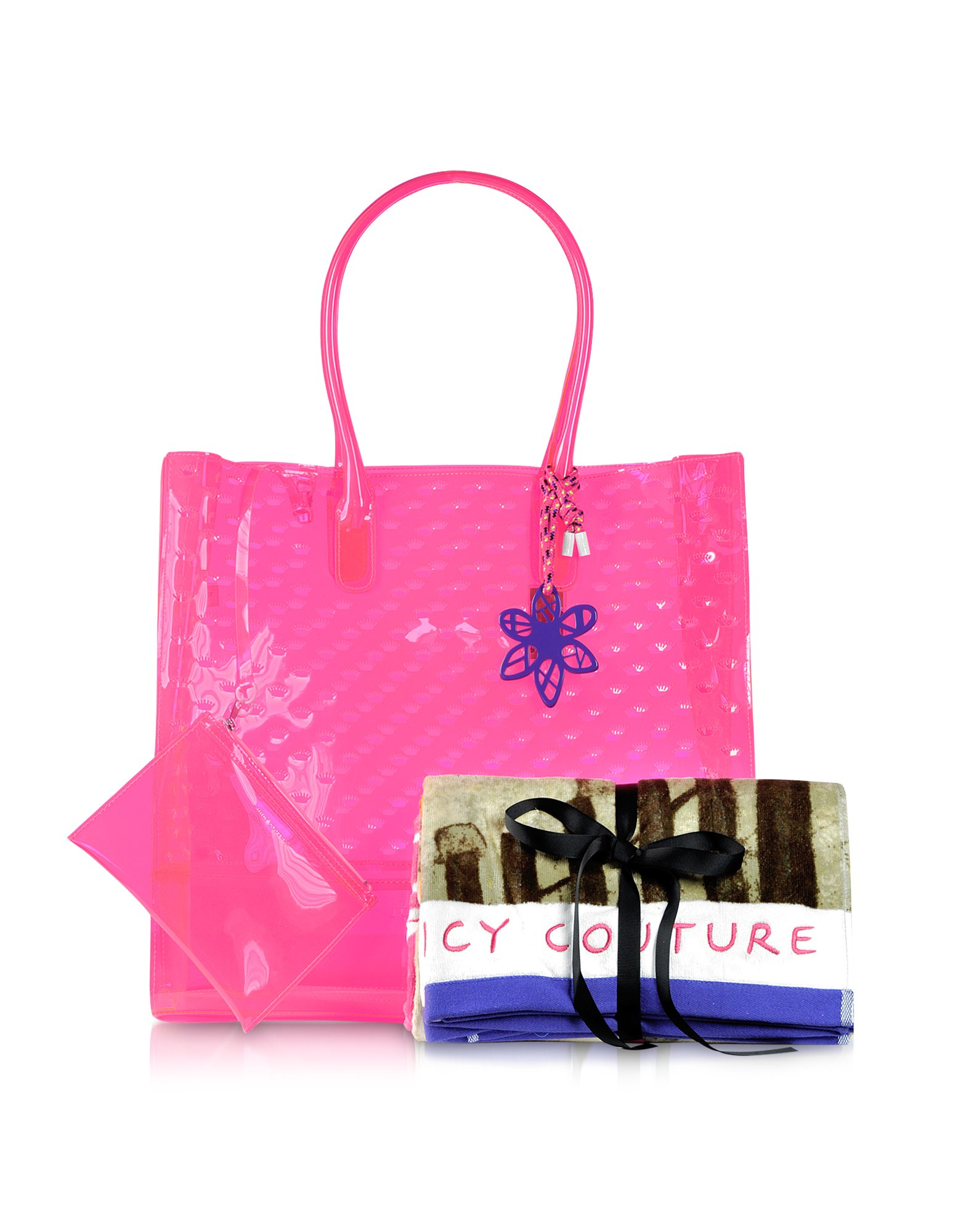 Juicy couture Leann Pool Party Jelly Tote W Beach Towel in Pink | Lyst