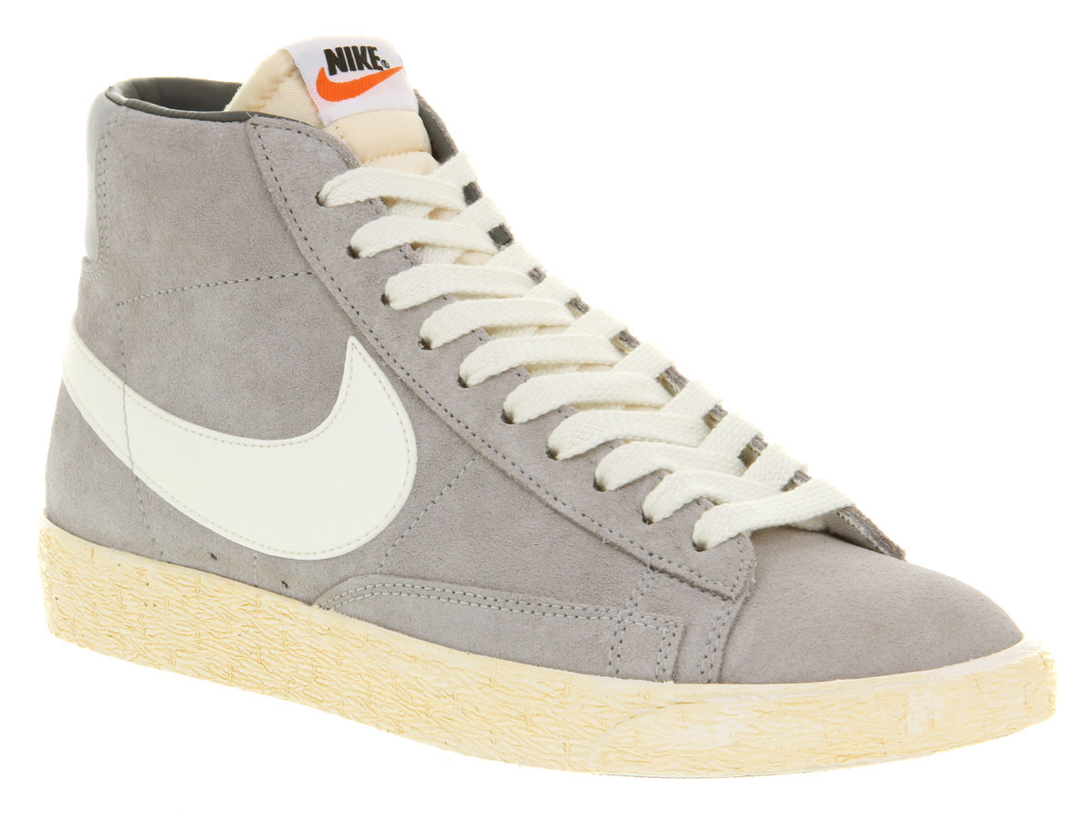 nike blazer grey high top