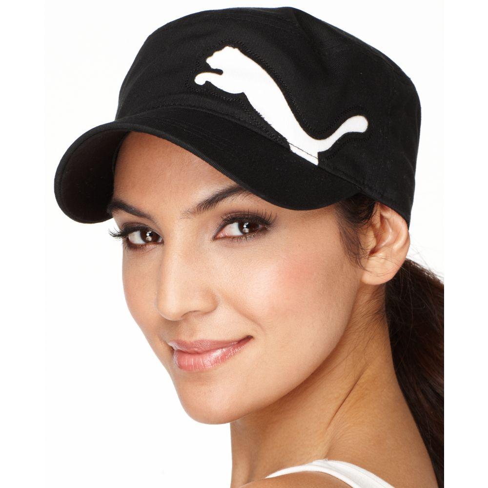 Lyst - PUMA Cat Logo Military Cap in Black 785af186ba6