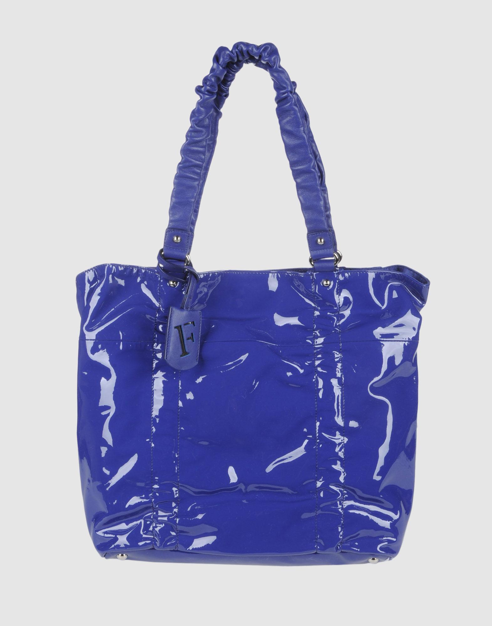 Furla Large Leather Bag in Purple