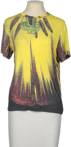 Christopher Kane Short Sleeve Tshirt in Gray (lead) - Lyst