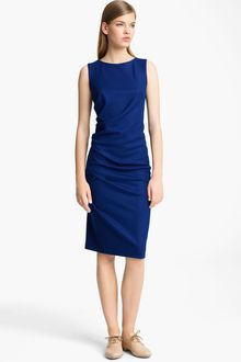 Jil Sander Ruched Pencil Dress - Lyst
