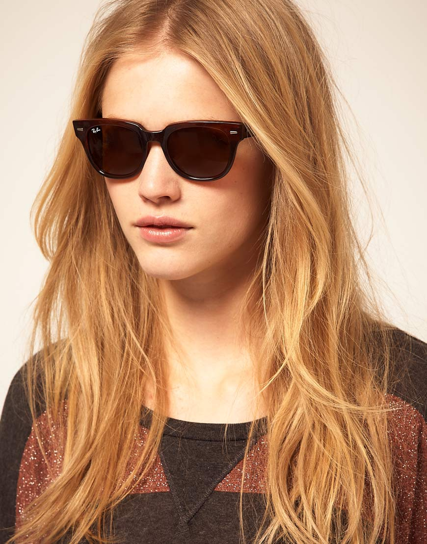 6787a5c77e6 Lyst - Ray-Ban Meteor Sunglasses in Brown