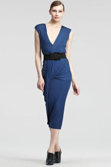 Donna Karan New York Luster Jersey Wrap Dress - Lyst