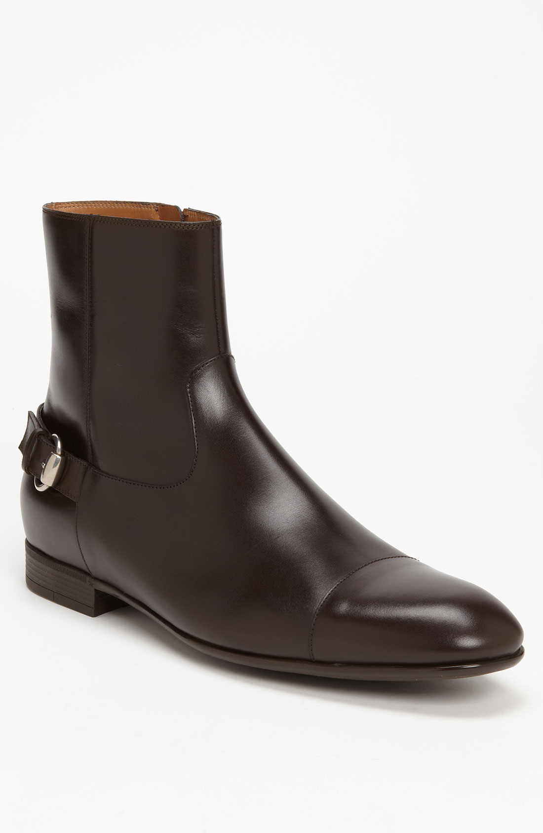 gucci doyen cap toe boot in brown for cocoa lyst