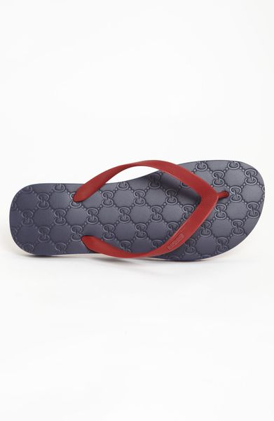 9328eb430a1 Gucci Bedlam Flip Flop in Red for Men (red blue)