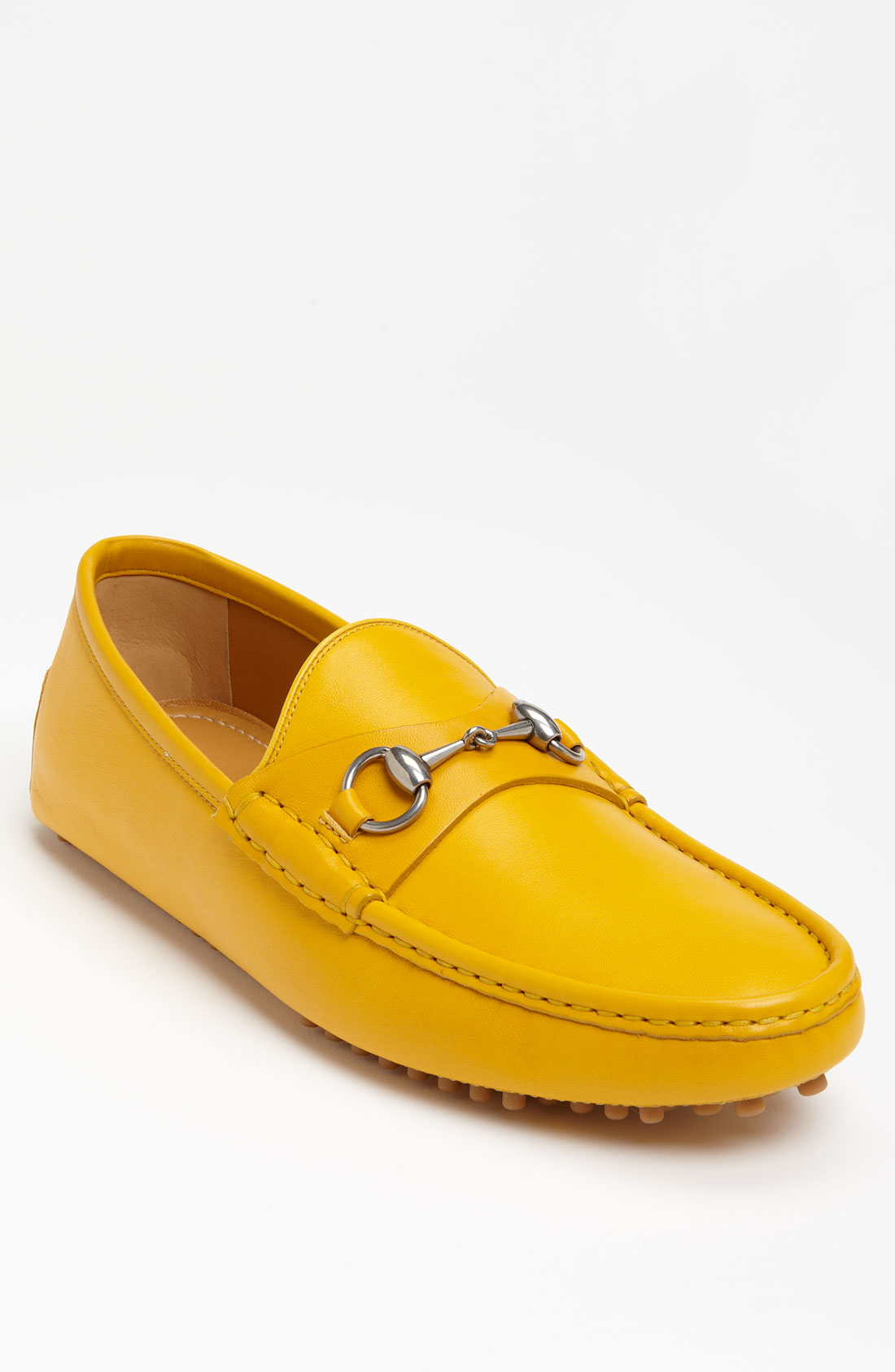 John Lobb Shoes >> Gucci Damo Driving Shoe in Yellow for Men | Lyst