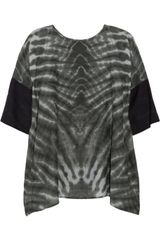 Raquel Allegra Tiedye Cotton and Silkblend Top