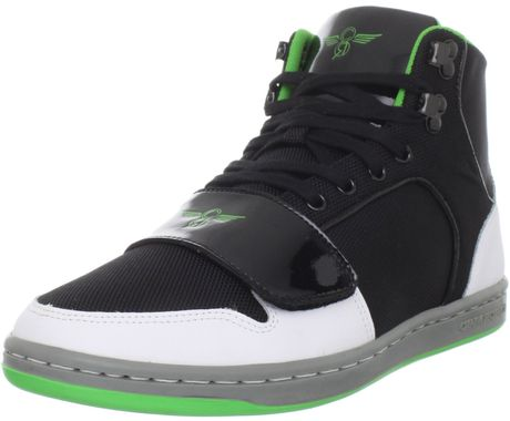 Creative Recreation 422 Laceup Sneaker in Black for Men (black white green)