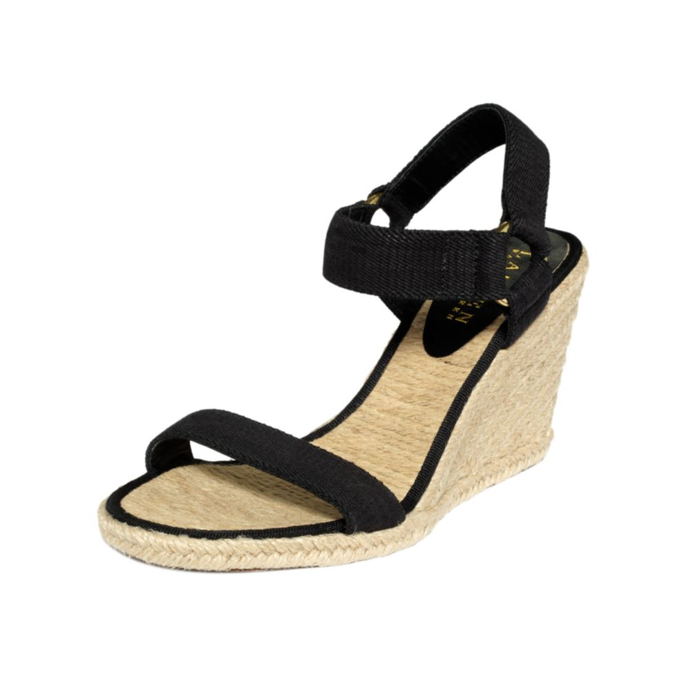 5e0cf21785e Lyst - Lauren by Ralph Lauren Indigo Espadrille Wedge Sandals in Black