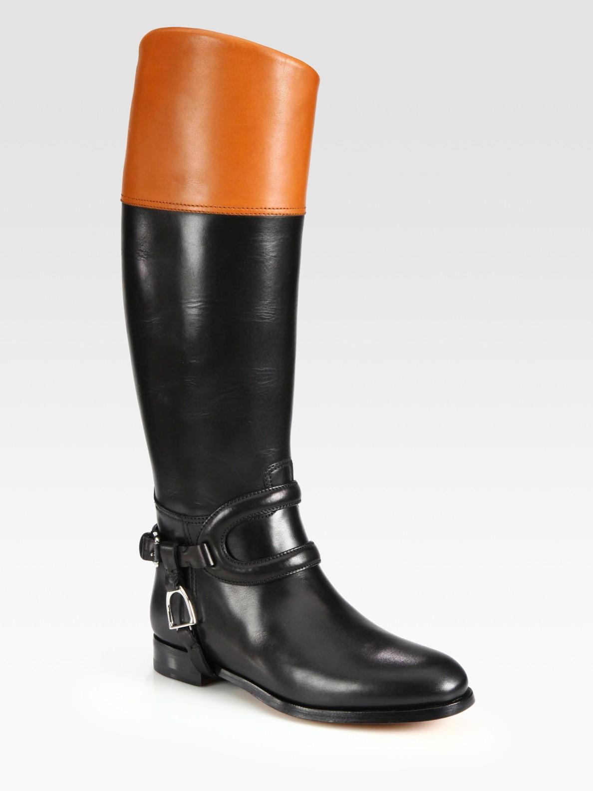 Ralph Lauren Collection [Purple Label] Black Sallen Boot