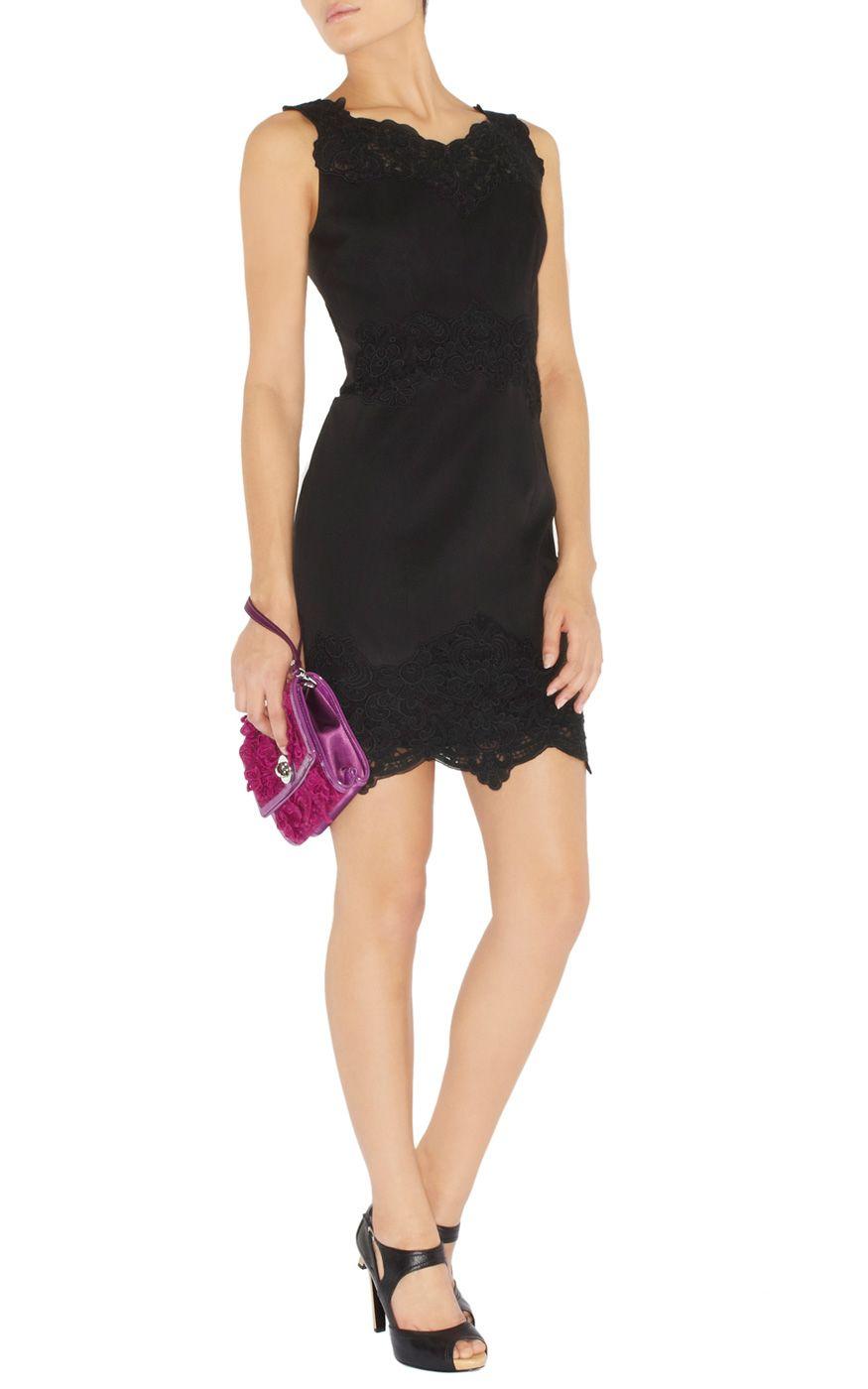 Karen millen heavy cotton lace collection dress