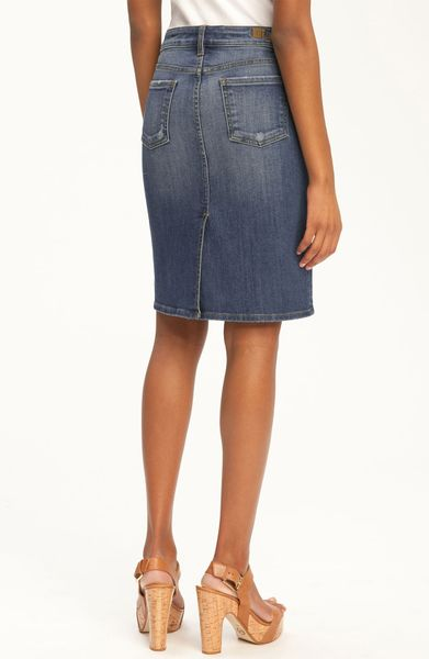 kut from the kloth 5pocket denim skirt in blue sight lyst