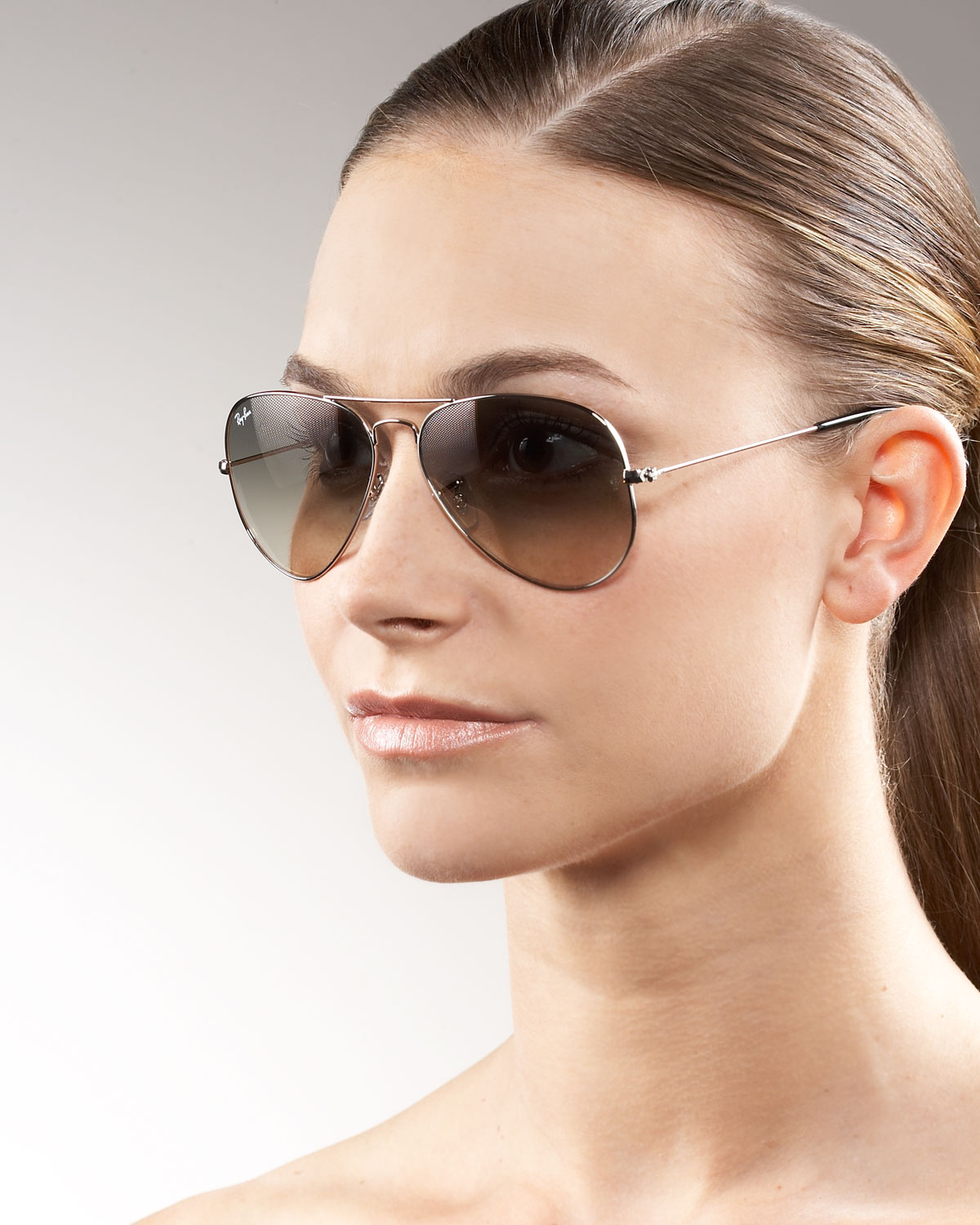 3462b7c2d2 Lyst - Ray-Ban Classic Aviator Sunglasses in Brown