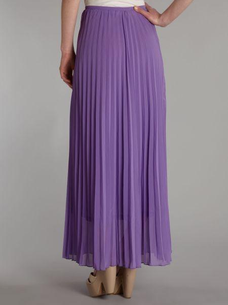 true decadence pleated maxi skirt in purple lilac lyst