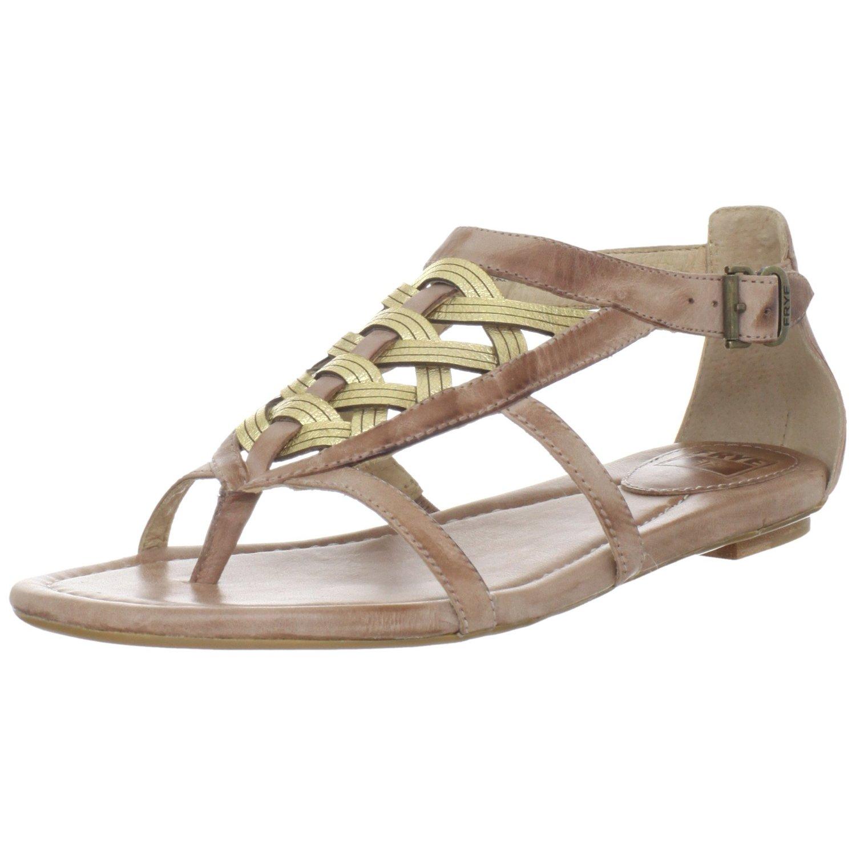 Frye Frye Womens Madison Huarache Thong Sandal In Gold