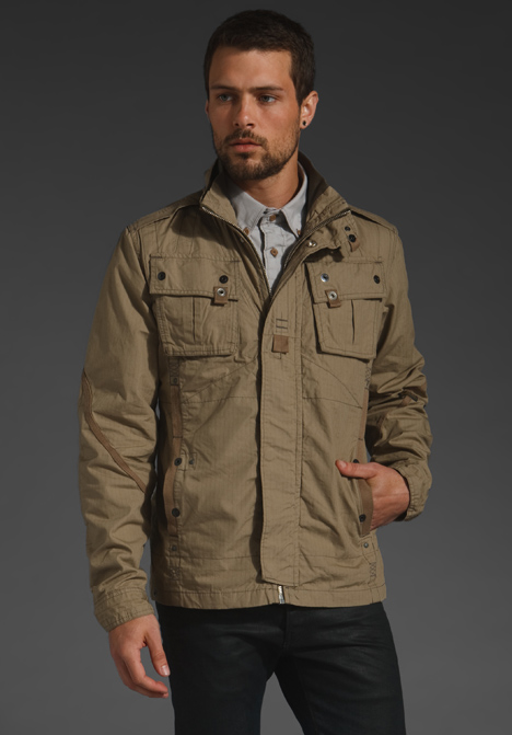 G-star raw Halo Ricolite Overshirt Jacket in Natural for Men | Lyst