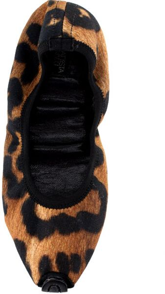 Giambattista Valli Leopard Ballet Flat Org 805 Now in Animal (leopard)