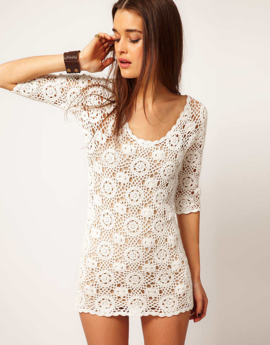 Minkpink Minkpink Little White Lie Crochet Dress in White Lyst