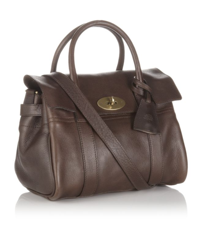 ca40b6033a ... clearance mulberry chocolate small bayswater satchel in brown lyst  d0fe4 135c1