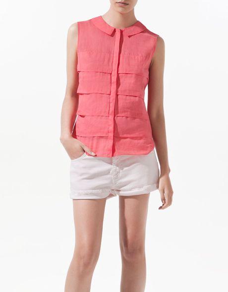Zara Peter Pan Collar Blouse 47