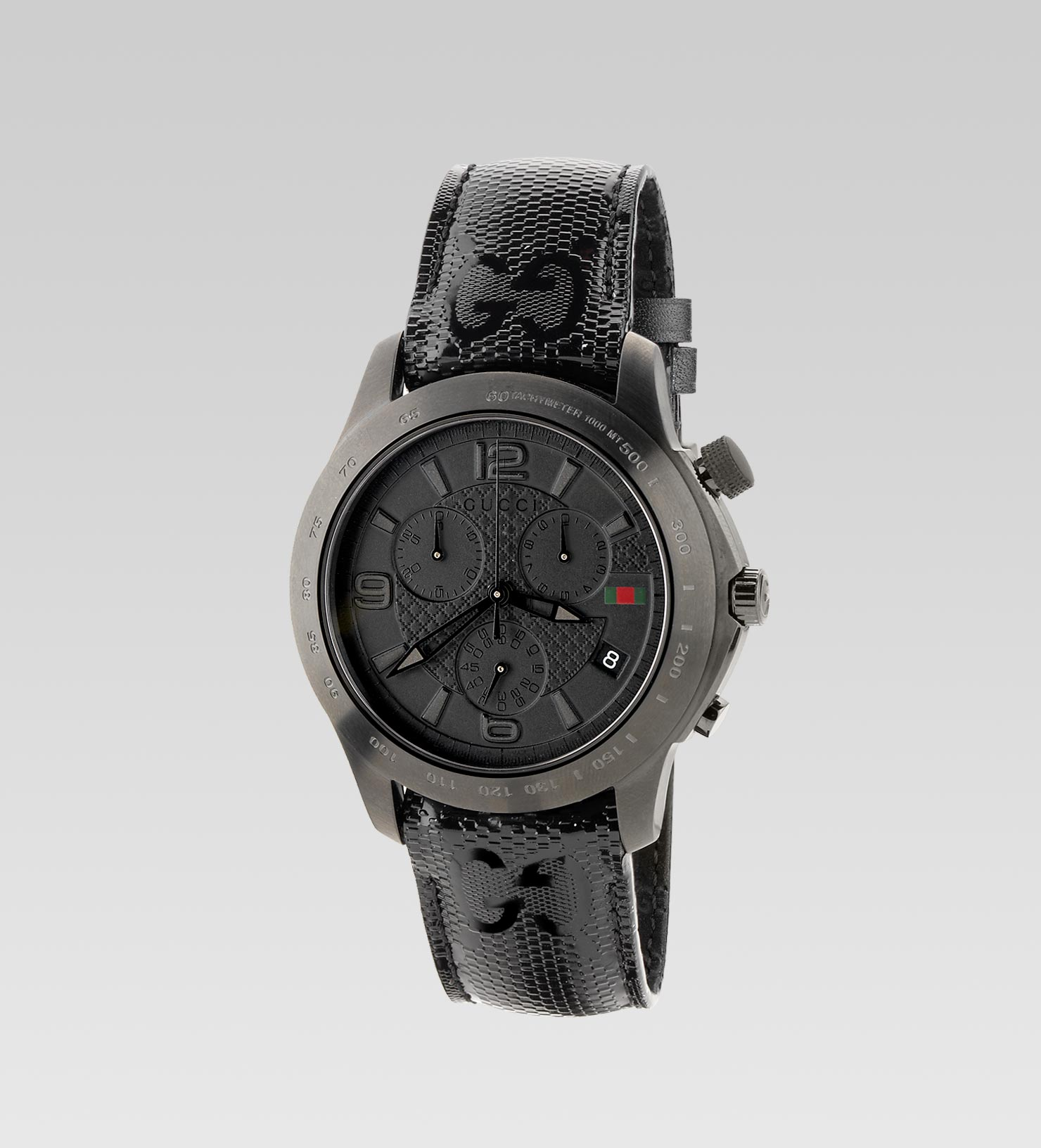gucci extra large version watch in black for men lyst. Black Bedroom Furniture Sets. Home Design Ideas